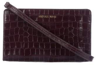 Michael Kors Embossed Leather Crossbody Bag