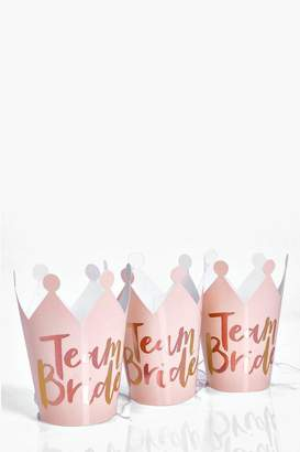 boohoo Ginger Ray Team Bride Hen Crowns 5Pk