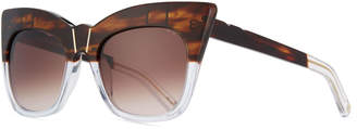 Cat Eye Pared Eyewear Kohl & Kaftans Two-Tone Cat-Eye Sunglasses