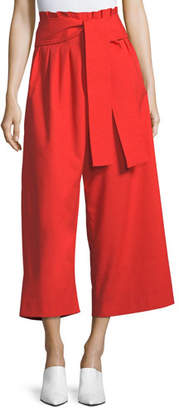REJINA PYO Ivy High-Waist Wide-Leg Cotton Trousers