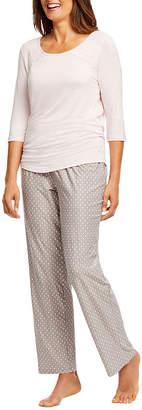 Gloria Vanderbilt Knit Pant Pajama Set- Womens
