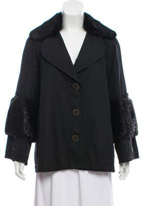 Nina Ricci Fur-Trimmed Jacket
