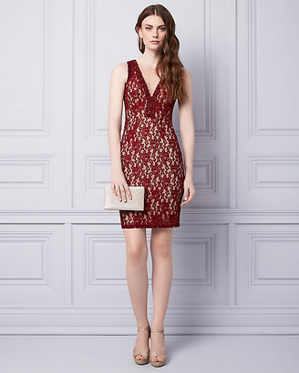 Le Château Lace Illusion Cocktail Dress