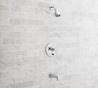 Pottery Barn Warby Pressure Balance Cross-Handle Bathtub & Shower Faucet Set