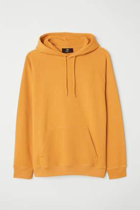 H&M Hooded Raglan-sleeve Shirt - Yellow