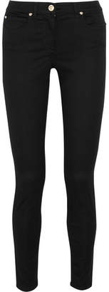 Versace - Mid-rise Skinny Jeans - Black $525 thestylecure.com