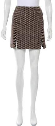 Wes Gordon Angora-Blend Mini Skirt