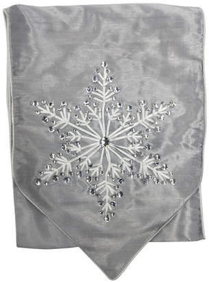"""National Tree Company 13"""" x 72"""" Table Runner with Snowflake Design"""