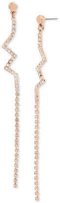 BCBGMAXAZRIA BCBGeneration Rose Gold-Tone Crystal Zigzag Drop Earrings