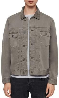 AllSaints Corduroy-Collar Twill Jacket