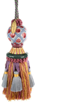 Mackenzie Childs Ceramic-Head Tassel