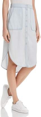 DL1961 White & Varet Chambray Skirt