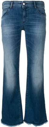 Emporio Armani washed flare leg jeans