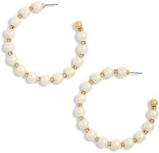 Kate Spade Large Beaded Hoop Earrings