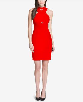 GUESS Crisscross Halter Dress