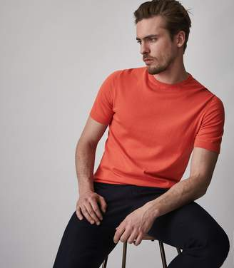 Reiss CARLTON Knitted crew neck top