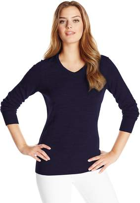 Cutter & Buck Women's Long Sleeve Douglas V-Neck Sweater
