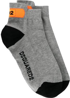 DSQUARED2 logo printed ankle socks