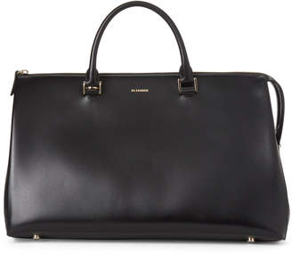 Jil Sander Black Large Leather Satchel