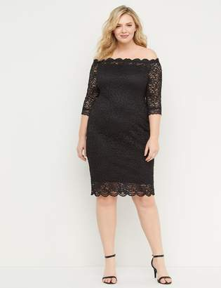 Lane Bryant Off-the-Shoulder Lace Sheath Dress