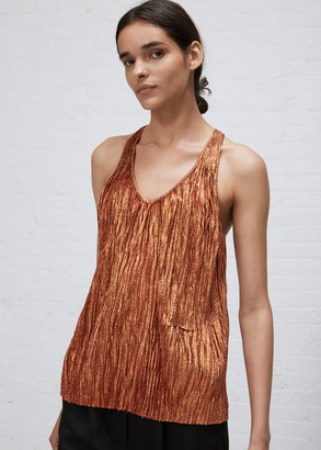 Haider Ackermann mimas orange plisse tanktop $1,600 thestylecure.com