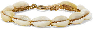 Isabel Marant Gold-tone And Shell Bracelet - White