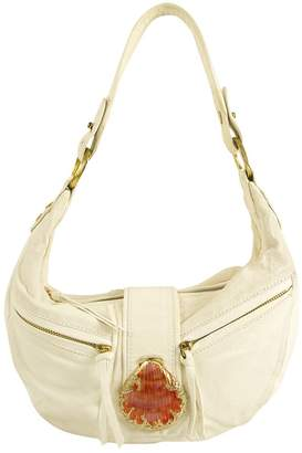 Roberto Cavalli White Leather Handbag