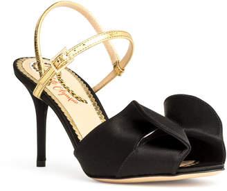 Charlotte Olympia Black satin sandals