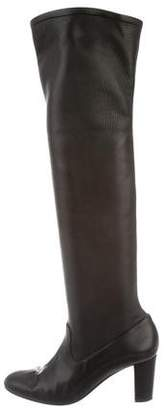 Maiyet Leather Semi Pointed-Toe Boots