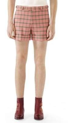 Gucci Wool Check Shorts