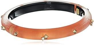 Alexis Bittar Womens Golden Studded Hinge Bracelet