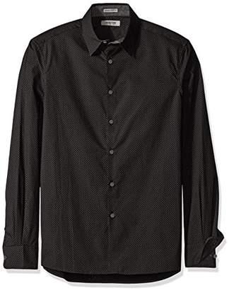Kenneth Cole Reaction Men's Long Sleeve Slim Geo Oval Print