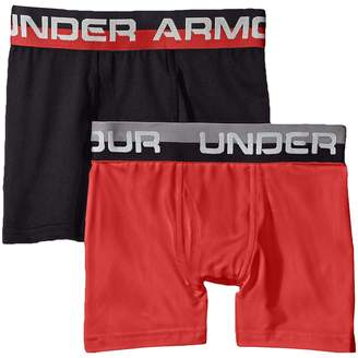 Under Armour Kids 2-Pack Solid Performance Boxer Boy's Underwear