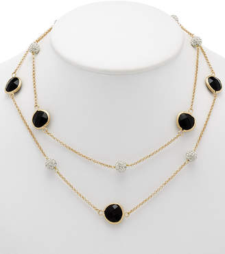 Rivka Friedman 18K Clad Onyx 36In Necklace