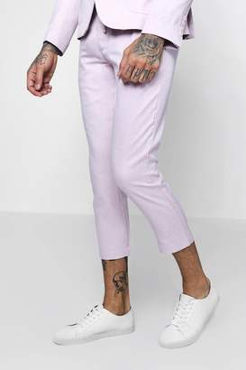 boohoo Cropped Slim Fit Tailored Pants With Drawstring