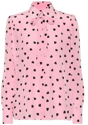 Valentino Heart print silk blouse
