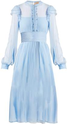 No.21 NO. 21 Ruffle-trim silk-chiffon dress