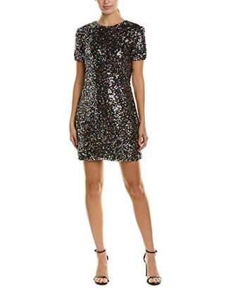 Dress the Population Women's Holly Short Sleeve High Neck Sequin Shift Dress