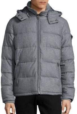 GUESS Wool-Blend Puffer Jacket