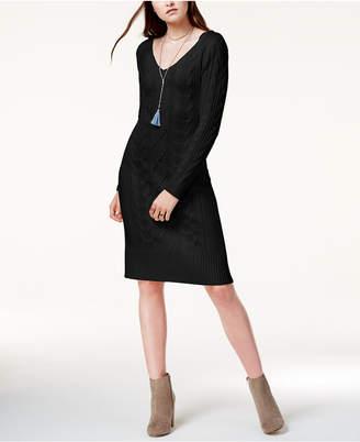 J.o.a. Cable-Knit Sweater Dress