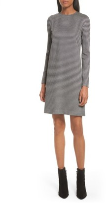 Women's Theory Wynter Houndstooth Knit Dress $315 thestylecure.com