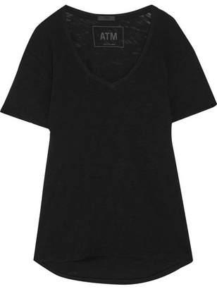 ATM Anthony Thomas Melillo - Slub Cotton-jersey T-shirt - Black $95 thestylecure.com