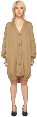 Maison Margiela Brown Extra Long Cardigan