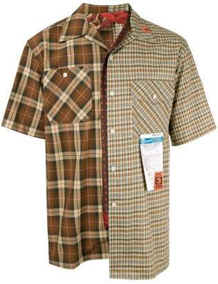 Puma Maison Yasuhiro multiple check pattern shirt