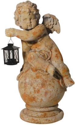 A&B Home Gavreel Angel Sculptural Accent With Lantern