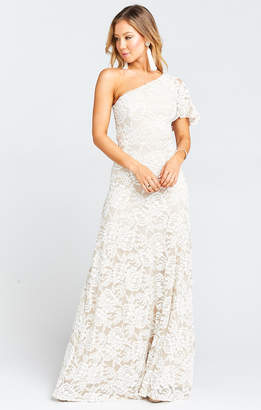 Show Me Your Mumu Portia One Shoulder Maxi Dress ~ Lovers Lace Show Me The Ring