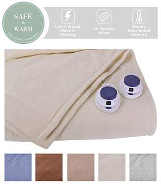 SoftHeat by Perfect Fit | Luxury Micro-Fleece Low-Voltage Electric Heated Blanket (Queen