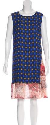 Dries Van Noten Multi-Print Knee-Length Dress