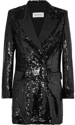 16ARLINGTON - Sequined Crepe Mini Dress - Black