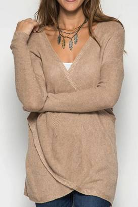 She + Sky Oatmeal Wrap Sweater $42.50 thestylecure.com